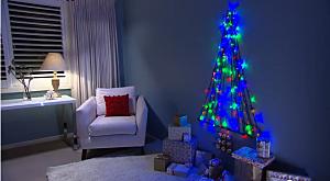 Christmas Tree On Wall With Lights cheap christmas tree ideas [photos/videos]