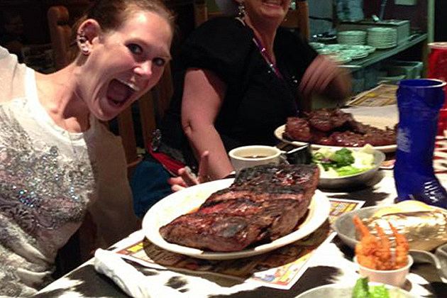 Molly Schuyler Eats Two 72 OZ Steaks at Big Texan