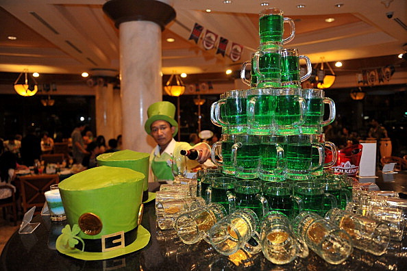 Revellers Gather To Celebrate Saint Patrick's Day In Indonesia
